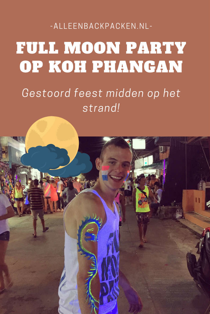 De Full Moon Party op het Thaise Eiland Koh Phangan staat bekend als een van de meest gestoorde feesten van Thailand en zelfs heel Azië, maar in hoeverre is dit waar en wat kan je verwachten als je naar de Full Moon Party toegaat? #fullmoonparty #kohphangan #alleenbackpacken
