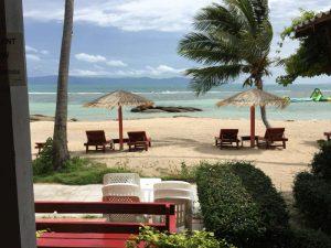 Afbeelding van een privé strand op Koh Phangan.