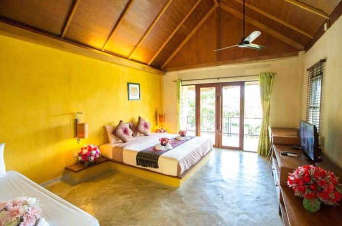Afbeelding van een van de cottages van het D2 Pai resort in Pai.