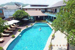 Afbeelding van het zwembad van het Medio de Pai hotel.