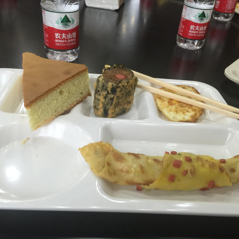 een foto van een Chinees ontbijt