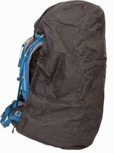 Een foto van een regenhoes van het merk Lowland die voor backpacks gebruikt kan worden tot 85 liter.