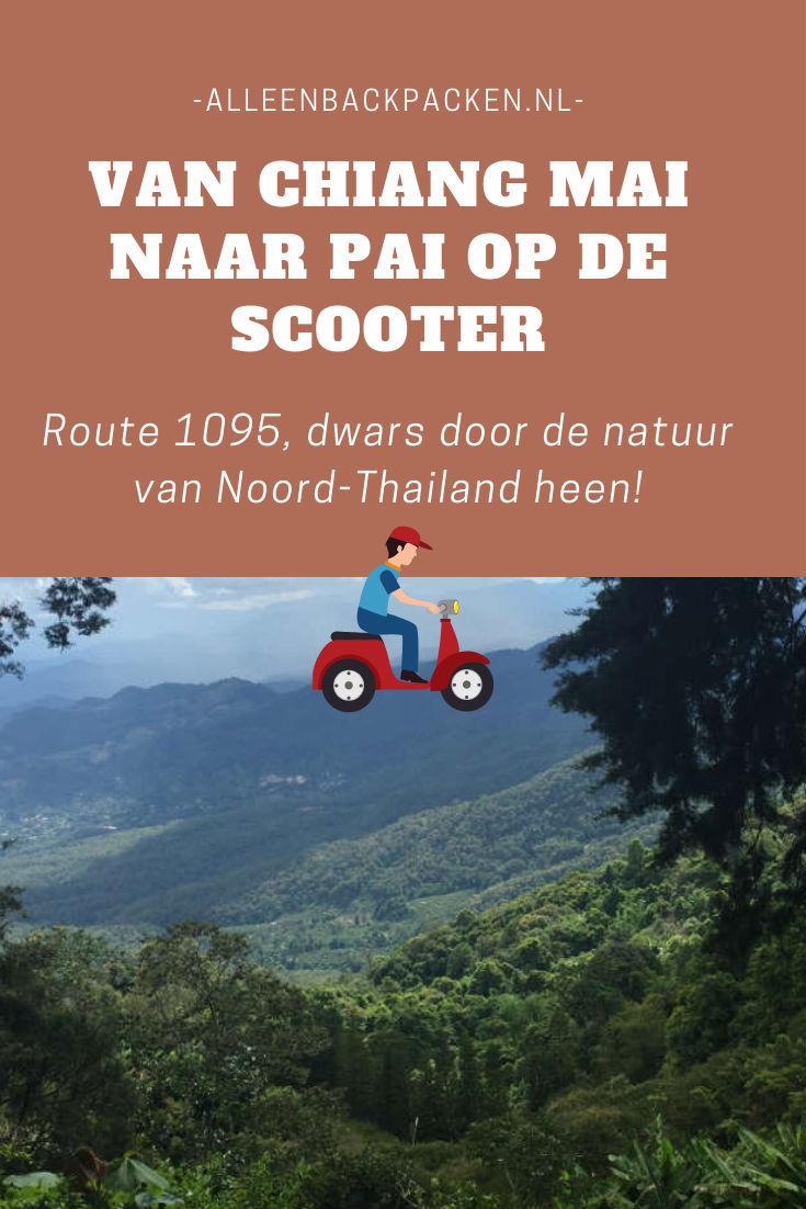 Van Chiang Mai naar Pai op de scooter gaan is een van de tofste dingen die er in Noord-Thailand te doen is. Deze weg wordt ook wel route 1095 genoemd en gaat dwars door de natuur van Noord-Thailand heen. #route1095 #vanchiangmainaarpai #chiangmai #pai #noordthailand #natuur #Thailand #alleenbackpacken