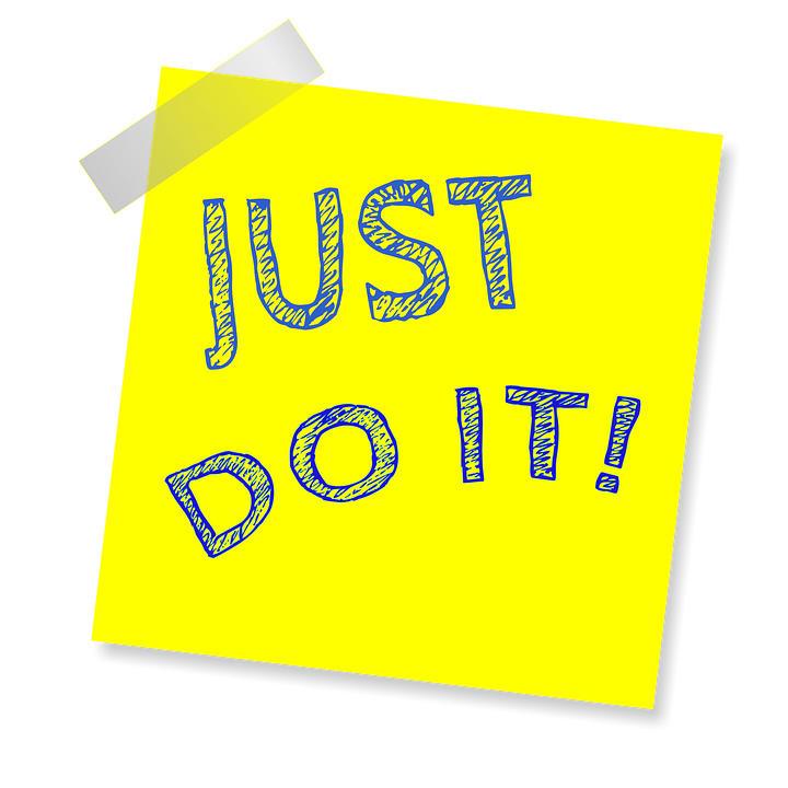 Een afbeelding met de befaamde tekst: Just dot it!
