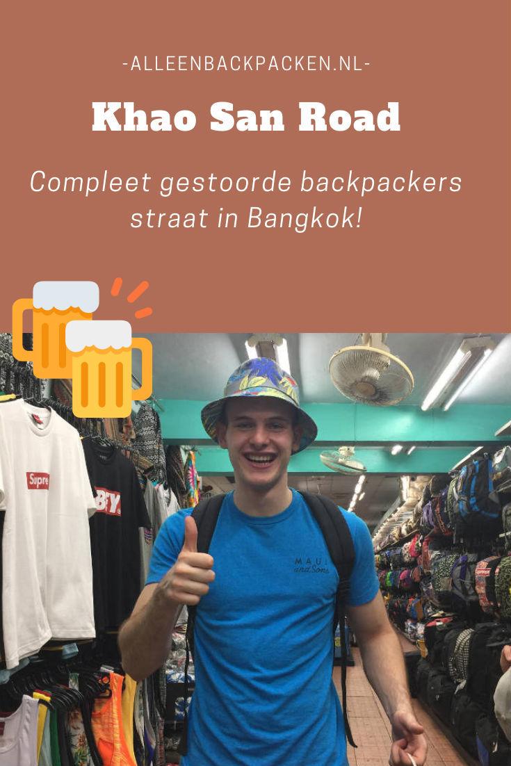 Khao San Road - Compleet gestoorde backpackers straat in Bangkok!
