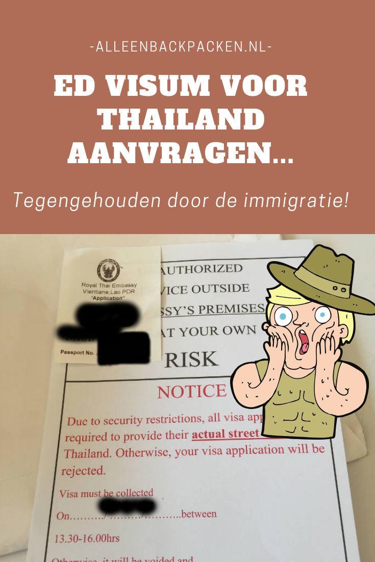 ED visum voor Thailand aanvragen in Vientiane - Veel moeilijker dan dat het in eerste instantie lijkt!