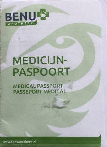 Foto van een medisch paspoort