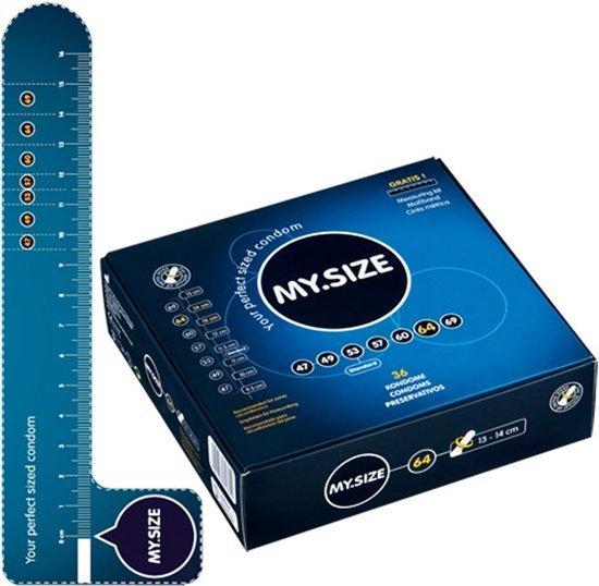 Foto van een doosje My.Size condooms met als maat 64.