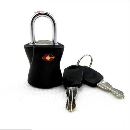 Afbeelding van een reisslot met sleutel.