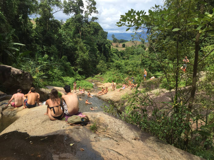 Afbeelding genomen vanaf de Mor Paeng waterval in Pai Thailand.