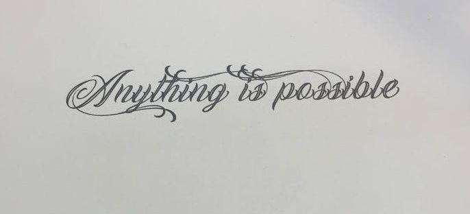 Afbeelding van een font voor een Tattoo in Thailand.