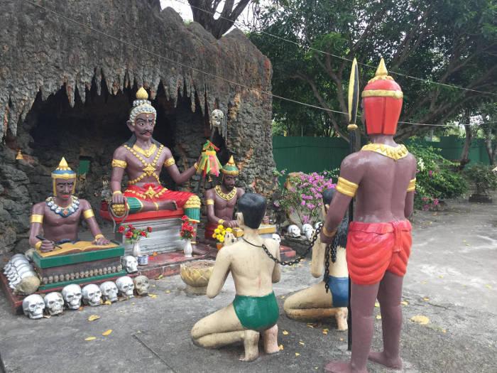 Foto van een veroordeling in de Wang saen suk hell garden in Bangsaen.