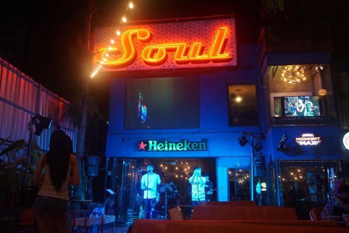 Afbeelding van een bar in Thailand.