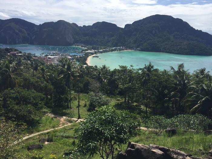 Afbeelding van het Koh Phi Phi viewpoint.