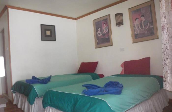 Afbeelding van de binnenkant van een hotelkamer in het Phi Phi dream Guesthouse op Koh Phi Phi.