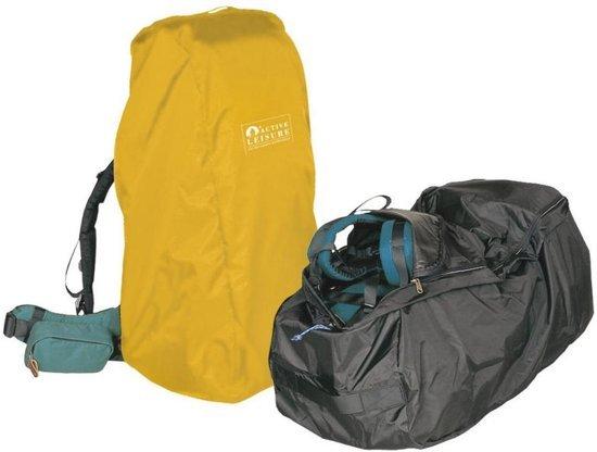 Afbeelding van een flightbag van het merk Active leisure die geschikt is voor een backpack van 55 tot 80 liter.