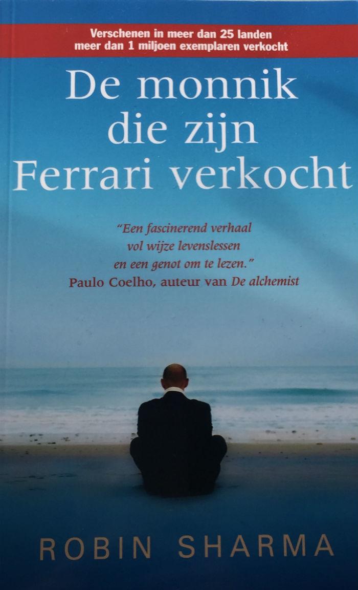 Bookcover van het boek De monnik die zijn Ferrari verkocht.