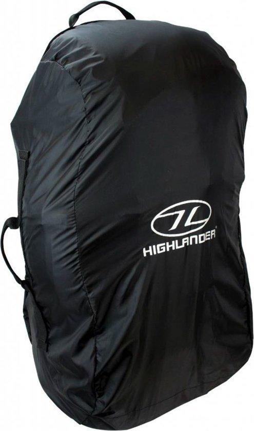 Afbeelding van een zogeheten combohoes wat een flightbag en regenhoes in een is. Deze combohoes is geschikt voor backpacks van 50 tot 70 liter.