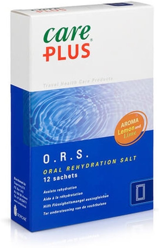 Afbeelding van een doosje O.R.S.van het merk Care plus.
