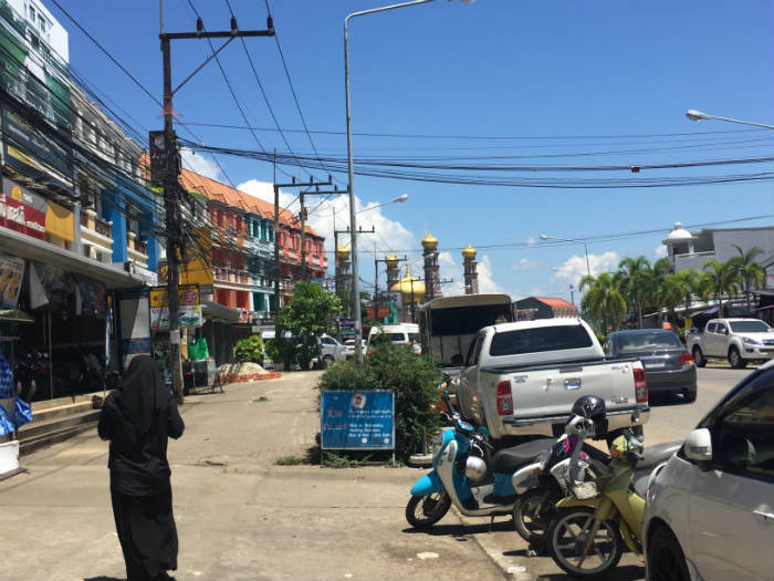 Foto die genomen is in het centrum van Ao Nang Krabi.