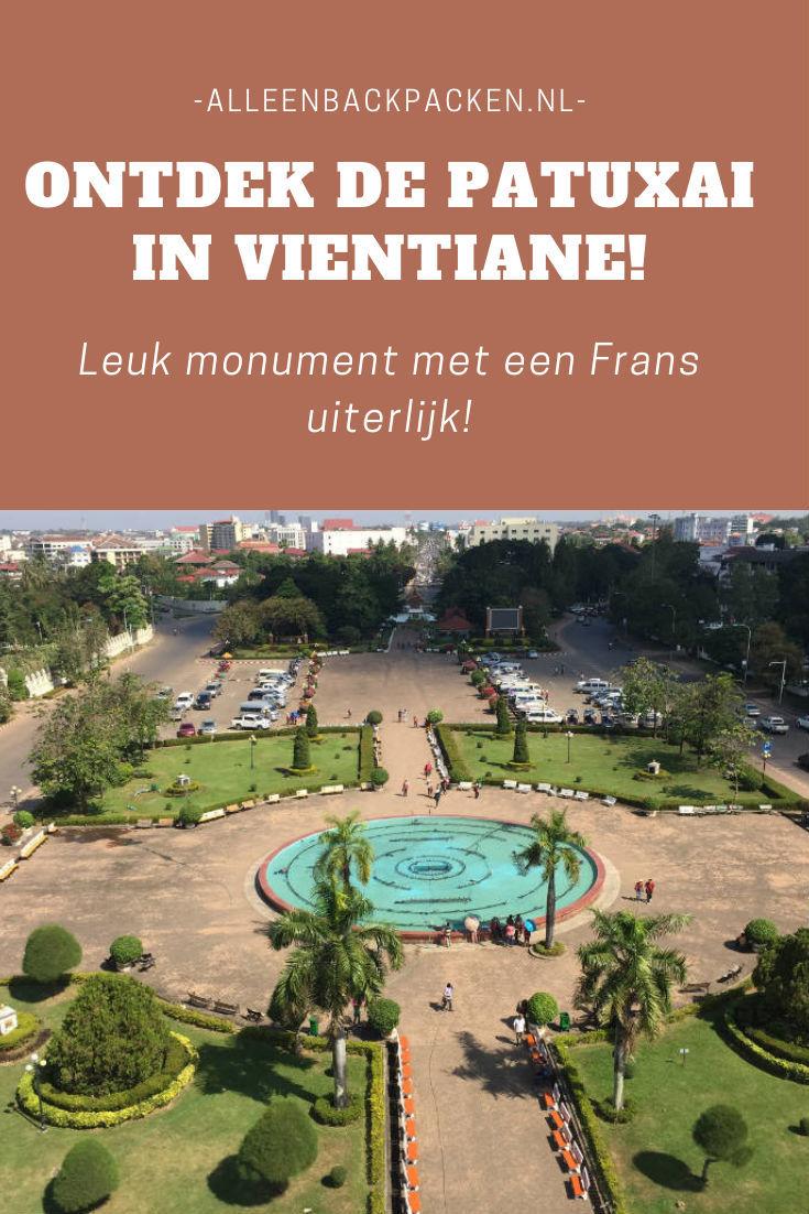 De Patuxai - Prachtig monument met een Frans uiterlijk