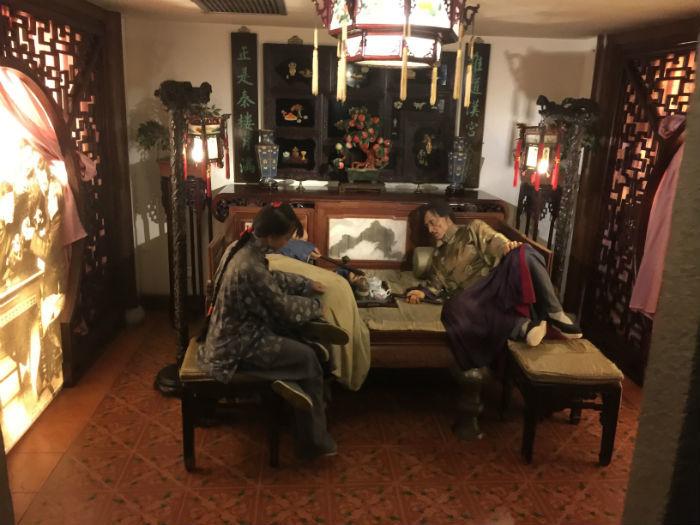 Foto genomen in het historisch museum van Shanghai.