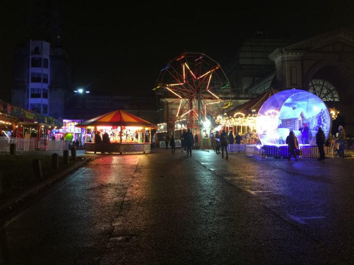 Alexandra Palace rond de kerstdagen.