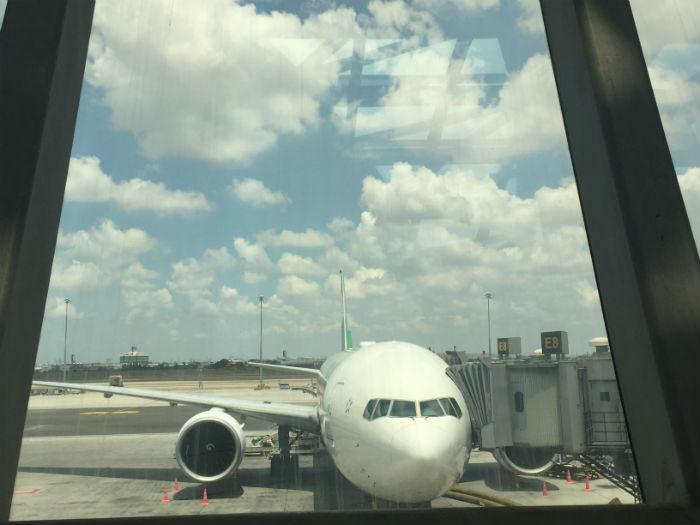 Vliegtuig van Eva Air.