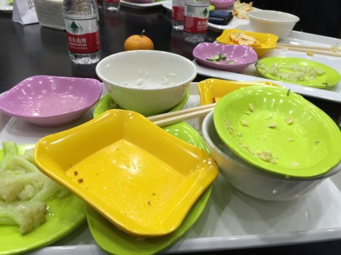 Klaar met eten in China